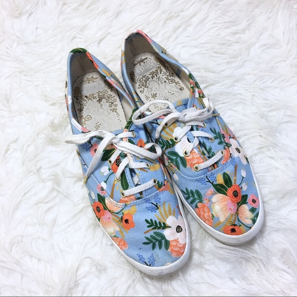 Keds Rifle Paper Co Champion Floral Sneaker Size 9